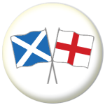Scotland St Andrew and England Friendship Flag 25mm Pin Button Badge